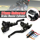 front brake master cylinder motorcycle - 2x Universal Motorcycle 7/8'' 22mm Brake Clutch Master Cylinder Reservoir Levers