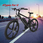 "4 Types 26.5"" Electric Mountain Bike & Lithium battery 350W 36V 21-24 Speed Best"