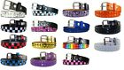 Внешний вид - Childrens Kids 2 Row Metal Pyramid Studded Leather Belt w/ Removable Buckle