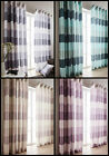 Striped Modern New Curtains With A Bold Print Design With Ring Top Eyelet Header