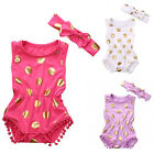 USA Cute Newborn Baby Girls Polka Dot Bodysuit Romper Jumpsuit Outfits Clothes