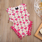 Newborn Infant Baby Girl Floral Jumpsuit Romper Outfit Clothes Bodysuit US Stock