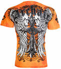 ARCHAIC by AFFLICTION Mens T-Shirt LUSTROUS Skulls Wings Tattoo Biker UFC $40 a