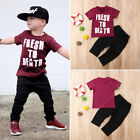 Внешний вид - Kids Baby Boys Casual Short Sleeve Tops T-shirt Pants Trousers Outfits Clothes