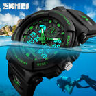 SKMEI Men's Waterproof Sport Army Alarm Date Analog Digital Black Wrist Watch sa