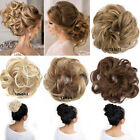 Natural Messy Bun Hair Pieces Real Scrunchy Scrunchie Bun Up Topper Blond Mix FA