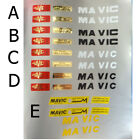 Mavic SSC rim decal choices. One set for 2 rims each sale
