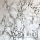 Marble Effect Stone Granite Wipe Clean PVC Table Cloth Cover Vinyl, Grey White