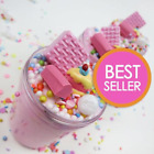 Внешний вид - Strawberry Pink Birthday Cake Slime & charm (Scented)  4, 6 & 8 oz - Made in USA