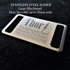 Stainless Steel SLIDER ID Tag With FREE Personalised Engraving for Dog Cat Pets