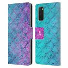 HEAD CASE DESIGNS MERMAID SCALES LEATHER BOOK WALLET CASE FOR SAMSUNG PHONES 1