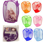 Внешний вид - Laundry Foldable Basket Pop Up Clothes Washing Bag Bin Hamper Mesh Storage Nice