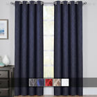 Set of 2 Hilton Blackout Curtains Jacquard Thermal Insulated Window Panels