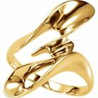 14k Yellow Gold Double Scoop Ring