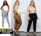 1826 WOMENS PLUS SIZE 100% RAYON Curvy Casual CARGO PANTS Gr