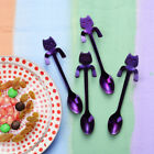 4pc Cute Cat Spoon Long Handle Spoons Flatware Coffee Drinking Kitchen Tools Hot