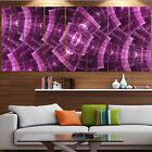 wall protection panels - Designart 'Purple Metal Protective Grids' Abstract Wall Art Canvas