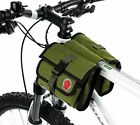 ArcEnCiel Bike Bag Front Bicycle Handlebar Bag Pannier Basket - Army Green