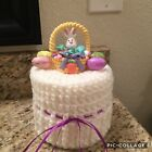 Easter Basket Toilet Paper Cover,  Bunny Toilet Paper Roll Cozy, Easter Decor