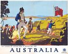 Vintage Australian Tourist Board Botany Bay Captain Cook Travel Poster  A3 Print