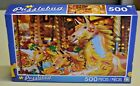 "Puzzlebug #5500 FUN FAIR CAROUSEL 500 Piece Puzzle, 18.25"" x 11"" New! Dated 2014"