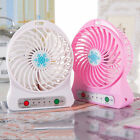 18650 Battery Office 5V New USB Air Cooling Rechargeable Hot Portable Fan Mini