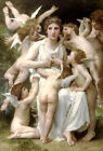 Home Decor Art Wall Nudes girl Classical Angel Oil painting Printed on canvas