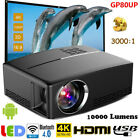 GP80UP Multimedia 4K WiFi Android Bluetooth 3D LED Projector Home Cinema 10000LM