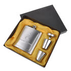 Portable Stainless Steel Silver 7Oz Hip Flask Drink Bottle + Funnel + Cup Set