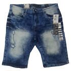 SOUTHPOLE MEN'S FLEX RIPPED JEAN DENIM SKINNY SHORTS 18121-3212
