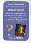 ATHLETE British Indie Rock Band 2006 QUIZ GAME TRIVIA PHOTO CARD