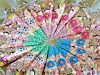Pre Filled Kid's Sweet Birthday Party Bags Cones - Free Stickers & Postage