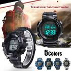 Men's Smart Watch Digital Alarm Date Rubber Relogio Masculino Army Sport Watch image