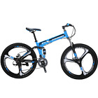 Eurobike G4 Folding Mountain Bike 26 inches 21 Speed Full Suspension Bicycle MTB <br/> Shipping From US;Foldable Frame