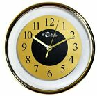 Uniware CL350 Stylish Modern Wall Clock-Analog Quartz, Golden/Silver Color,9Inch
