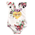 Baby Girls 1st First Birthday Romper Bodysuit Floral Outfits