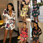 Women Sexy Floral Sundress Evening Party Casual Club Short Mini Dress Club Robes