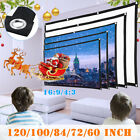 Outdoor Portable Foldable Movie Projector Screen 4:3 Projection HD Home Theater