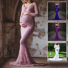 Women Gown Maternity Lace Maxi Dress Wedding Party Pregnant Photography Props