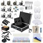 2 4 8 Machine Guns Complete Tattoo Kit 40 54 Ink LCD Power Supply Equipment Opt
