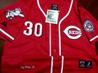 Bran New! Cincinnati Reds #30 Ken Griffey Jr. Cooperstown HOF patch sewn Jersey