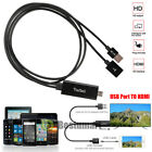 For A pple i Phone X/8/7/6s/Plus/5 5s Lightning To HDMI/HDTV AV TV Cable Adapter