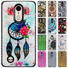 For LG Aristo 2 HYBRID IMPACT Hard Gel Fusion Hybrid Case Cover + Screen Guard