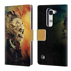 OFFICIAL RIZA PEKER SKULLS 7 LEATHER BOOK WALLET CASE COVER FOR LG PHONES 2