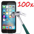 100x Wholesale Lot Tempered Glass Screen Protector for iPhone X 8 6s 7 Plus 50x