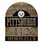 Pittsburgh Steelrs Home Sweet Home Wooden Sign