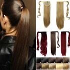 High Quality Clip In human Hair Extensions Wrap Around Ponytail as real Fake F56