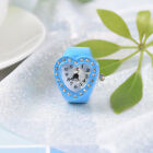 Fashion Finger Accessory Colourful Gift table Women heart-shaped ring watch LS