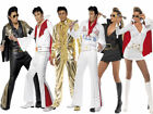 Elvis Presley Costume Ladies Mens Elvis 1960s Fancy Dress Rockstar Elvis