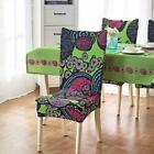 Chair Covers Stretchable High Quality Pastoral Style Plain Dyed Printed Covering